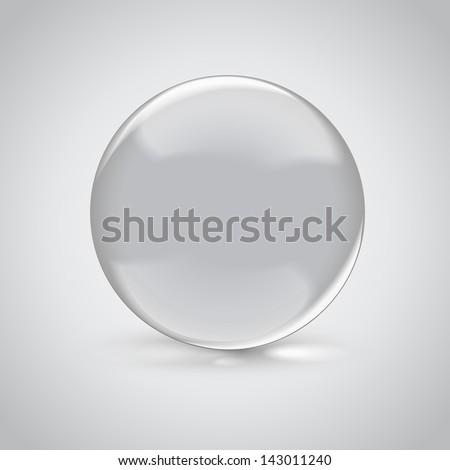 3D empty glass sphere. Vector illustration - stock vector