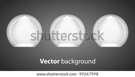 3d Empty shelf for exhibit in the wall-vector - stock vector