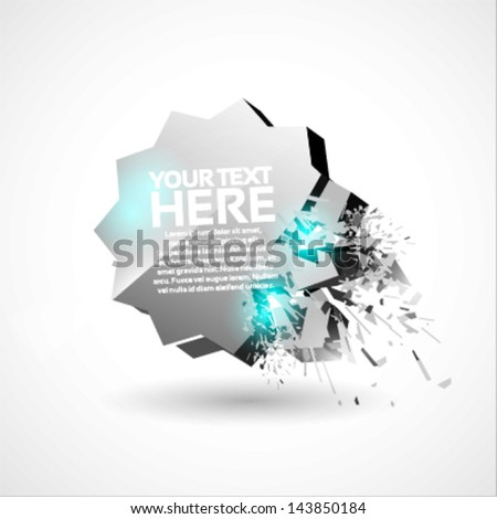 3D Explosion Background  - stock vector
