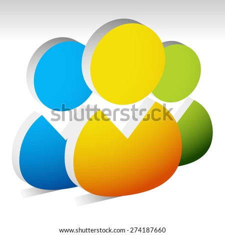 3d figures, characters icon for community, workforce, employees or partnership, company concepts. - stock vector