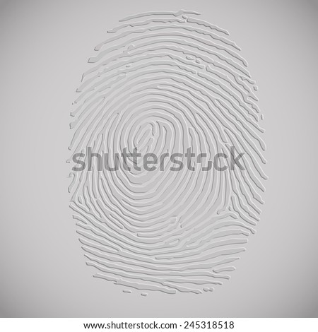 3D Fingerprint, vector - stock vector