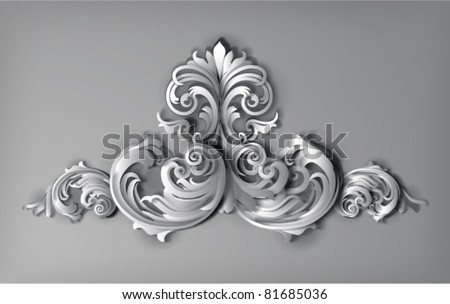 3d flourishes - vector illustration - stock vector