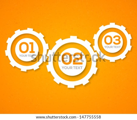 3D gears teamwork template. Vector illustration. - stock vector