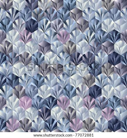 3d geometric seamless pattern. Vector tiles background. - stock vector