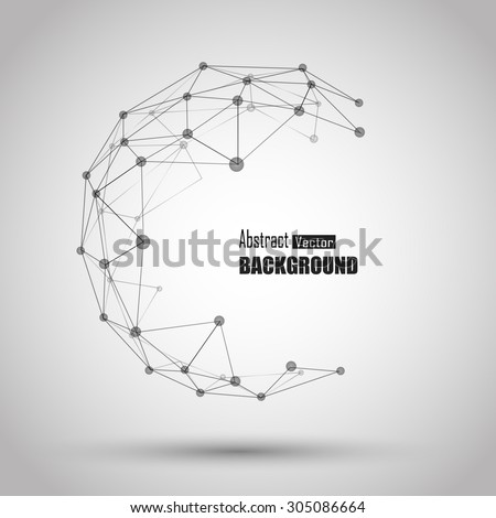 3d geometric vector background for business or science presentation. - stock vector