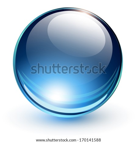 3D glass sphere, vector illustration. - stock vector