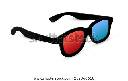 3d glasses isolated - vector