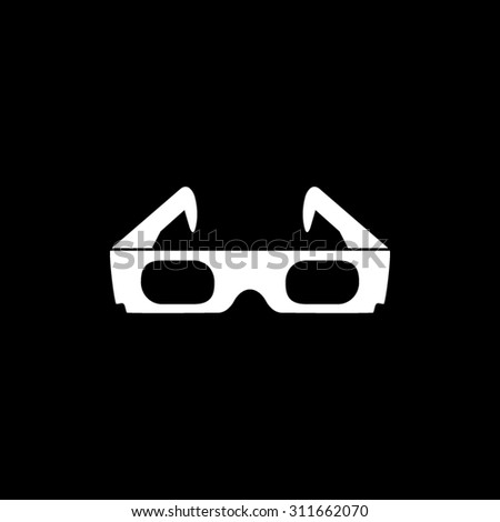 3d glasses  - vector icon - stock vector