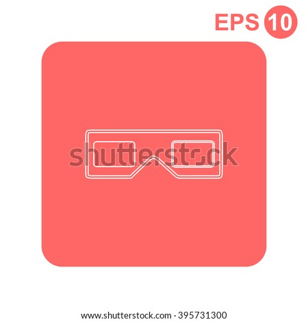 3d glasses. Vector illustration. - stock vector