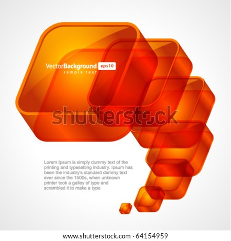 3d glossy glass squares vector background