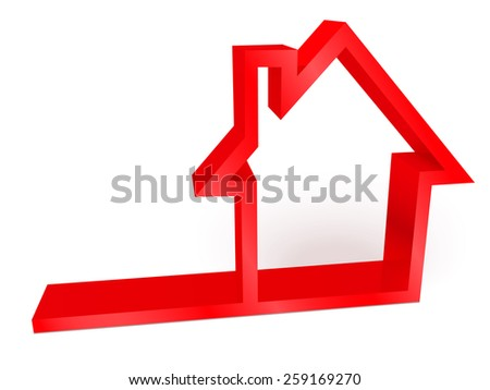 3D glossy house icon - stock vector
