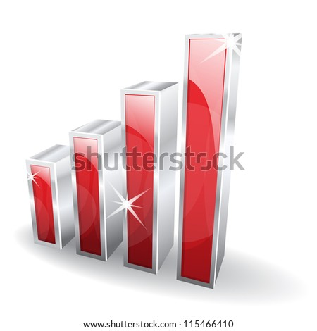 3d Glossy Signal Vector Icon - stock vector