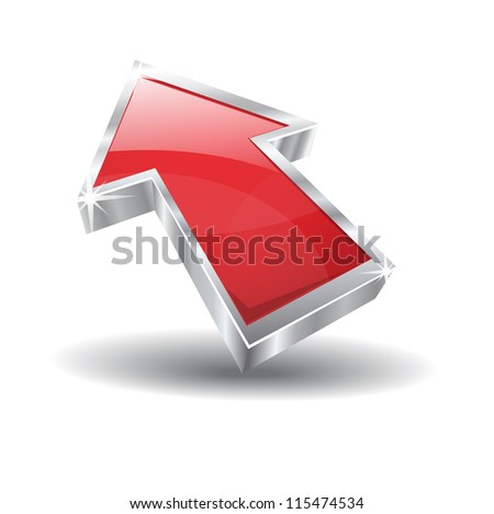 3d Glossy Vector Icon - stock vector
