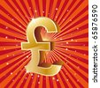 3d gold pound icon,winner background - stock photo