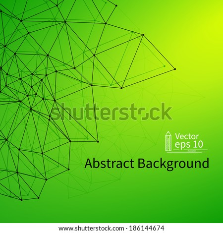 3D Green Abstract background with Circles, Lines and Shapes | EPS10 Design Layout for Your Business - stock vector