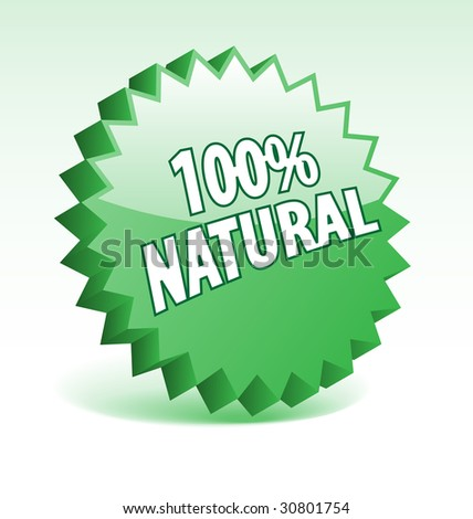 3D green vector badge for promotion, marketing, advertisement.