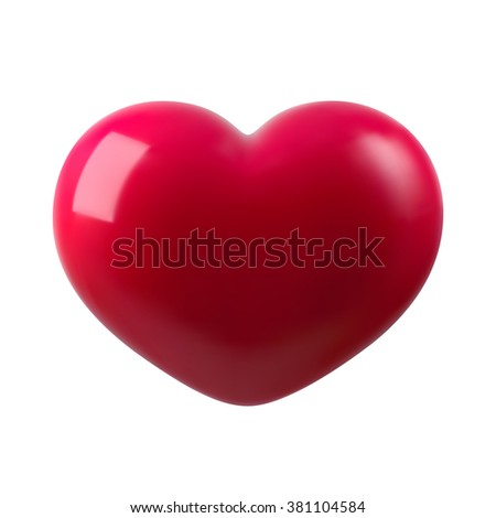 3d Heart vector illustration, Isolated on white background - stock vector