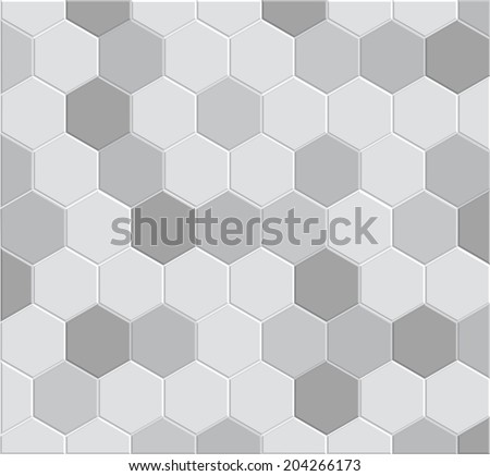3d hexagon tile brick pattern for decoration and design tile floor pathway clay brick stone
