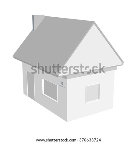 3D house vector illustration - stock vector