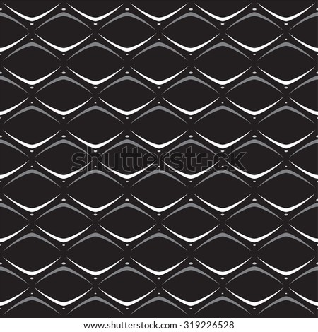 3D illusion. Seamless pattern on a light background. Stylish modern texture. Geometric ornament. Monochrome objects. eps8 - stock vector