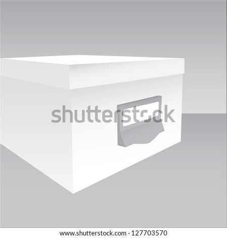3d illustration of a closed box in grey tones - stock vector