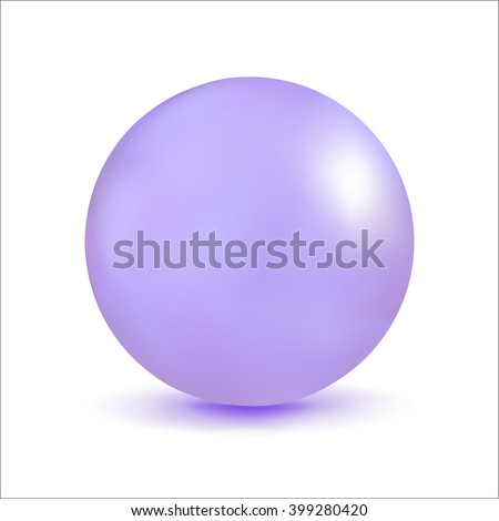 3D illustration, sphere with a pearl effect. Vector element for design.