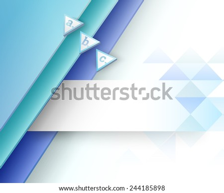 3D  Infochart Brochure Banner Element. Marketing or Advertisement Graphics for Web or Printed Presentation - stock vector
