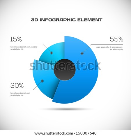 3D Infographic design - stock vector