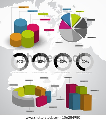 3d infographics vector - stock vector