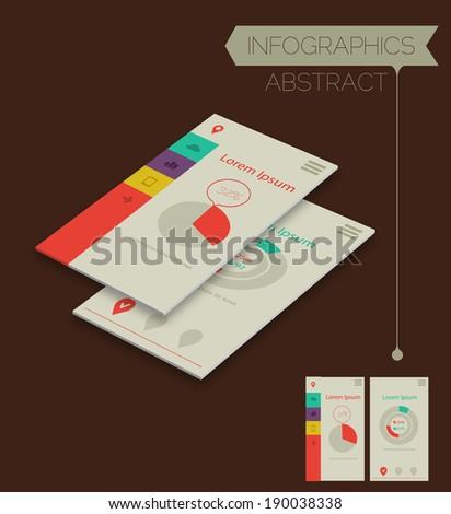 3d isometric infographics concept - stock vector