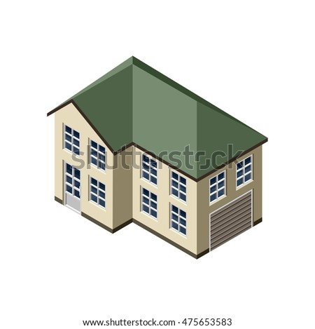 3D Isometric Isolated Vector House