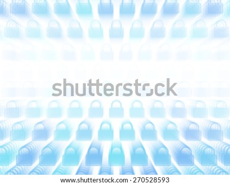3d layered vector background with lock icon template. Abstract transparent background with perspective for poster, banner, web.