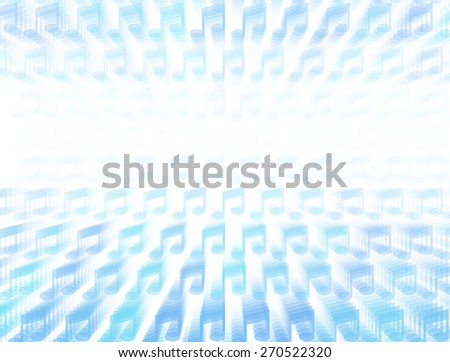 3d layered vector background with music note icon template. Abstract transparent background with perspective for poster, banner, web. - stock vector