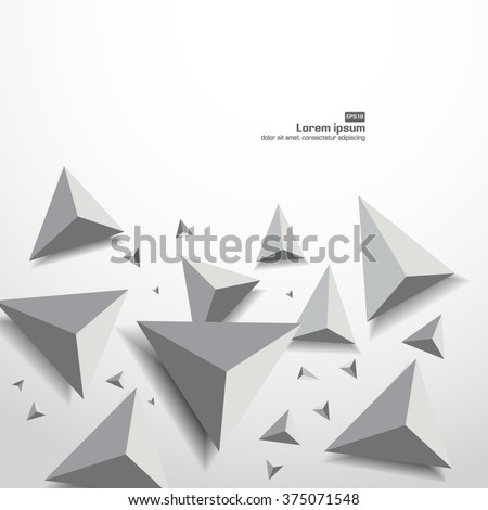 3D Low Polygon Geometry Background