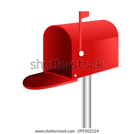 3D mailbox vector. - stock vector