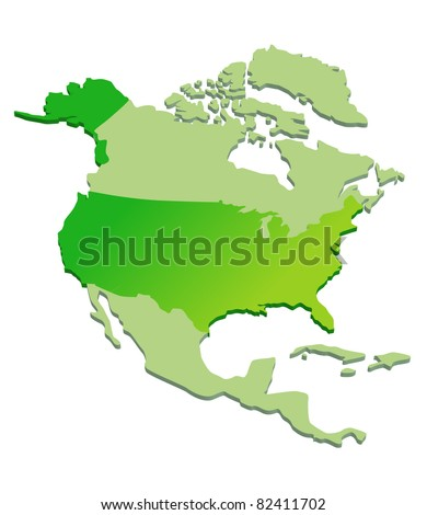 3D Map of North America