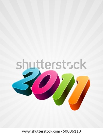 3d 2011 message vector background