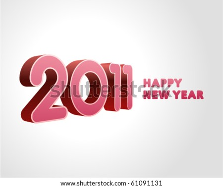 3d 2011 message vector background. Eps 10