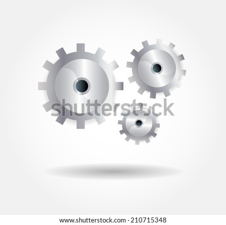 3d metal gears isolated. Eps 10 vector file. - stock vector