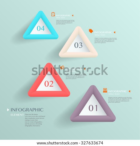 3D modern vector abstract step lable infographic elements  for business , banners , web site , brochures - stock vector