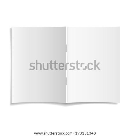 3d modern vector blank opened magazine cover template - stock vector