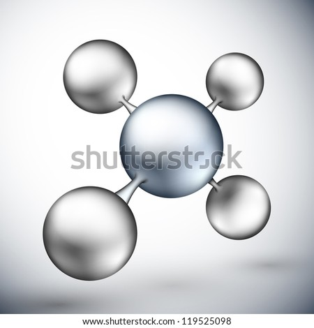 3D molecular structure. Eps 10 - stock vector