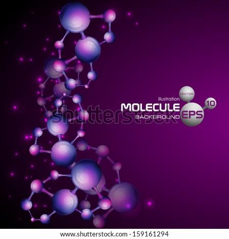 3d molecule background. Vector illustration. Eps 10. - stock vector