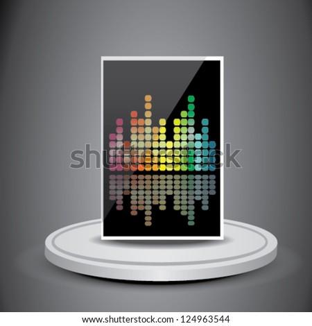 3D Music Box - stock vector