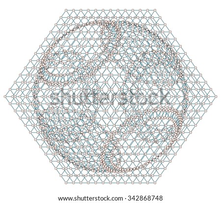 3d Network Concept On White Background Vector 01 - stock vector