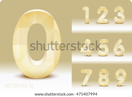 3d numbers made of plywood and wood.  Zero 0 One 1 Two 2 Three 3 Four 4 Five 5 Six 6 Seven 7 eight 8 nine 9. vector eps10