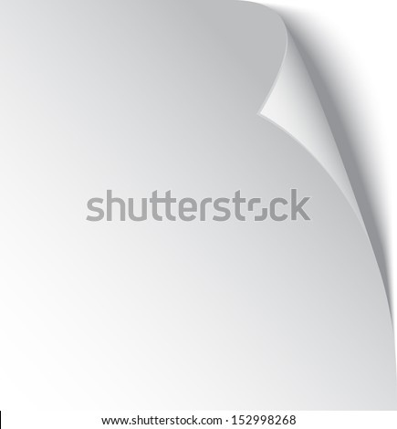 3d page curl  - stock vector