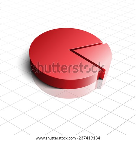 3D Pie Chart, high quality vector EPS10 - stock vector