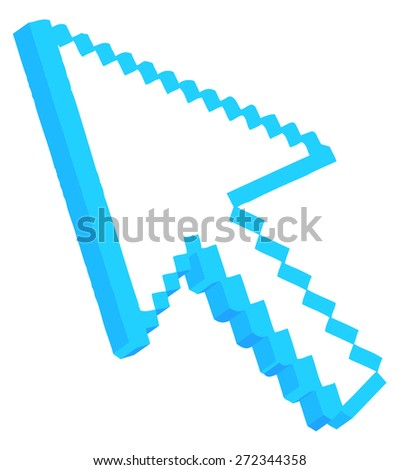 3d Pixel Arrow - stock vector