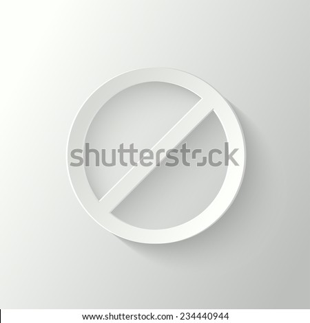 3d prohibition sign - stock vector